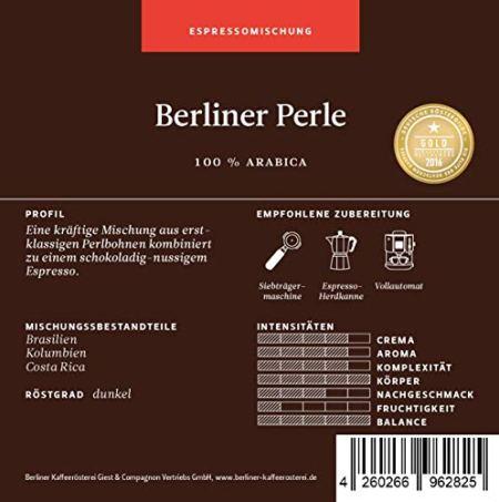 Berliner Kaffeerösterei Berliner Perle