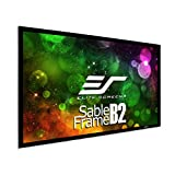 Elite Screens Sable Frame B2, 120-INCH Diag. 16:9, Active 3D 4K / 8K Ultra HD Fixed Frame Home Theater Projection Projector Screen with Kit, SB120WH2