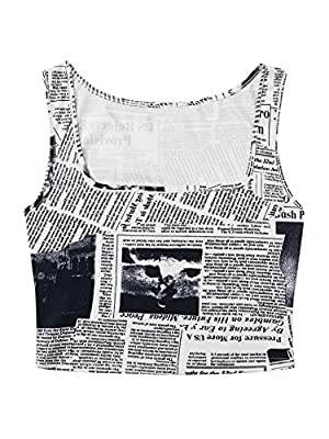 Material:Polyester. Soft,comfy and breathable fabric Sleeveless, Basic, Crew Neck, Workout Cropped Shirt Crop tops for women, junior's vest tank top, pair with skirts, shorts or leggings Simple and basic tank top, perfect for the gym,workout,yoga or ...