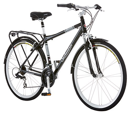 Schwinn Discover Hybrid Bike for Men and Women, 21 Speed, 28-Inch Wheels, Step-Through or Step-Over Frame, Multiple Colors