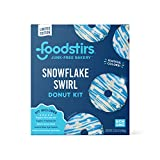 Foodstirs Junk-Free Bakery Snowflake Swirl Donut Baking Kit 17.12 oz | Baking Kit | Plant-Based Natural Dyes | Frosting | Non-GMO