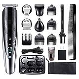 Hatteker Mens Hair Clipper Beard Trimmer Grooming kit Hair trimmer Mustache trimmer Body groomer...
