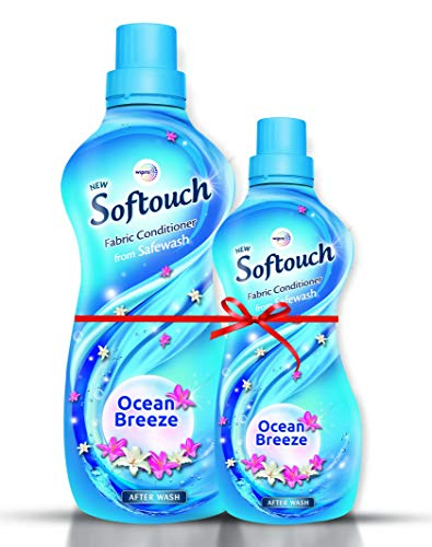 Softouch Ocean Breeze Fabric Conditioner by Wipro, 860ml + 400ml Free