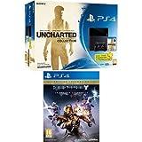 Contenu : Console PS4 500Go + Uncharted : The Nathan Drake Collection + PS Plus 3 mois Destiny : le roi des corrompus - édition légendaire