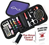 Craftlab Best Mini Sewing Kit with Sewing Survival Ebook, 78 Emergency...