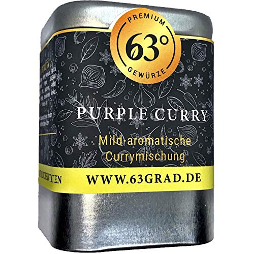 63 Grad - Purple Curry - Hibiskusblüten Curry Mischung (75g)