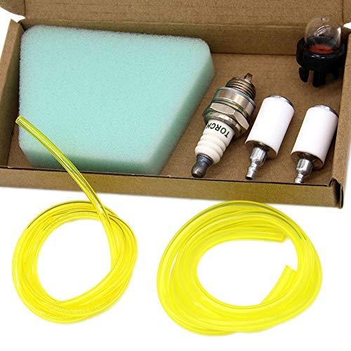 SWNKDG Kit de filtre à essence universel Tuyau à essence Filtre à air avec apprêt Tuyau de carburant (2,5 x 5 mm 2 x 3,5 mm) pour débroussailleuse tondeuse tondeuse débroussailleuse tondeuse à herbe