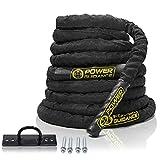 POWER GUIDANCE Corde de Bataille Corde Entrainement Corde de Fitness Battle Rope Ondulatoire - 9m/12m/15m - pour la Musculation Formation
