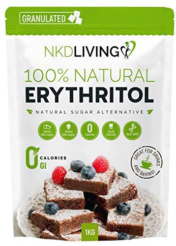 Eritritol 100 % natural 1 kg   Granulado sustituto del azúc