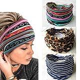 Yean Boho, diademas de leopardo, diademas de turbante con tirantes, bandas elásticas para mujeres y...