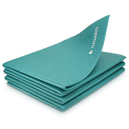 Navaris Non-Slip Yoga Mat - Folding Gymnastics Mat - 173 x 61 x 0.4 CM - Pilates Sports Gymnastics Training Mat