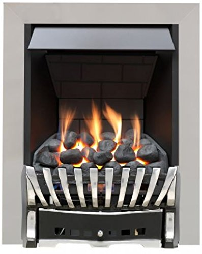 Eastleigh Slimline Radiant Top Control Gas Fire - Chrome/Black
