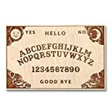 Large Classic Design - Wooden Ouija Board - Talking Board - Spirit Board - Large Size 18 x 11.4'' Handmade Wooden Premium Quality Board and Planchette