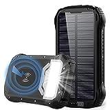 GRDE Batterie Externe 26800mAh Chargeur Solaire...