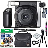 Fujifilm Instax Wide 300 Instant Film Camera + instax Wide Instant Film, 20 Sheets + Extra Accessories