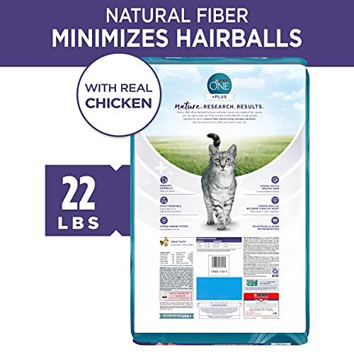 Product Image 7: Purina ONE Natural Dry Cat Food, Hairball Formula - 22 lb. Bag