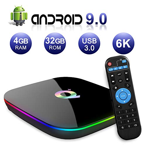 Android TV BOX,Q PLUS Android 9.0 TV BOX 4GB...