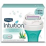 Schick Intuition Sensitive Skin Womens Razor Refills with Vitamin E & Aloe, Pack of 6