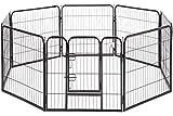 BestPet Pet Playpen Dog Kennel 8 Panel Indoor Outdoor Folding