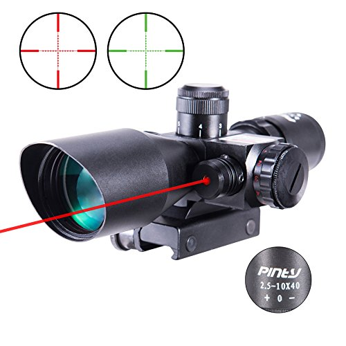 Pinty 2.5-10x40 Red Green Illuminated Mil-dot Tactical Rifle...