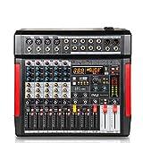 Professional DJ Audio Mixer Controller - 6-Channel DJ Controller Sound Mixer w/ DSP 380 Preset Effects, Recording, USB, 4 XLR Mic/Line Input, AUX, FX Processor MP3 Player, Headphone Jack - Pyle PMX646