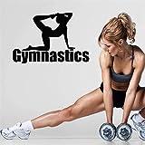 Ajcwhml Calcomanía de Pared Gimnasia Culturismo Pilates Entrenamiento Deportivo Club de Deportes para Mujeres Sala de Fitness Gimnasio Pegatina de Vinilo Decoración - 79X55CM-79X55CM