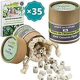Aimez La Nature 35 Perles de Céramique EM Grises Avec Sachet Coton Certifié...