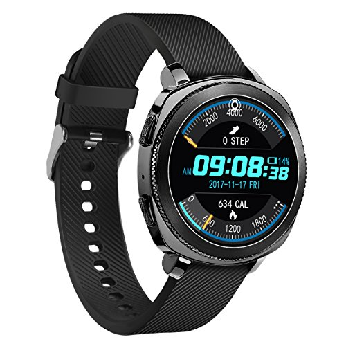 Samsung Gear Sport Watch Band,YiJYi 20mm Genuine Leather Sport Replacement Band Strap for Samsung Gear Sport Smart Fitness Watch (TPU-Black)