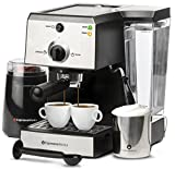 7 Pc All-In-One Espresso Machine & Cappuccino...