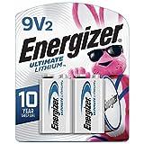Energizer 9V Batteries, Ultimate Lithium, 2 Count