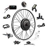 EBIKELING 48V 1200W 700C Direct Drive Waterproof Electric Bike Kit - Ebike Conversion Kit - Electric Bike Conversion Kit (Rear/LCD/Twist)