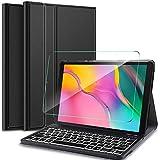 IVSO Samsung Galaxy Tab A 10.1 Clavier avec Protection écran,[AZERTY...