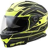 GMAX MD-01 Adult Stealth Modular Motorcycle Helmet - Black/Hi-Vis Yellow/X-Large