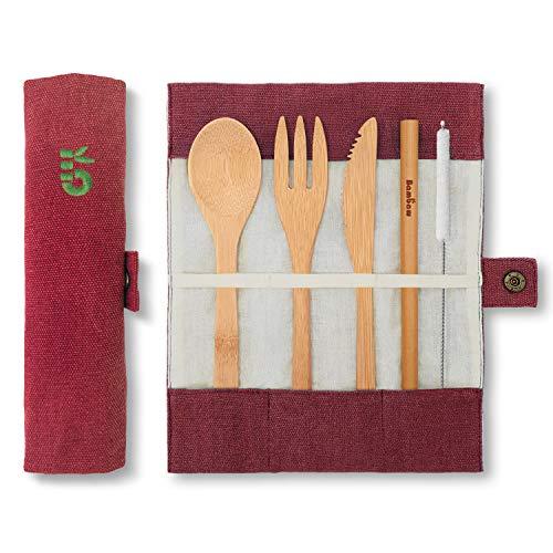 Set couverts en bambou | Couverts en bois | Kit couverts écologique |...