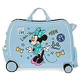 Disney Enjoy Minnie Icon Maleta Infantil Azul 50x38x20 cms Rígida ABS Cierre combinación 34L 2,3Kgs 4 Ruedas Equipaje de Mano