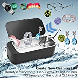 Professional Jewelry Cleaner Machine, Sonar X Ultrasonic Cleaner for Jewelry, Silver,Eyeglasses, Rings, Coins, Denture, Chain (Black)