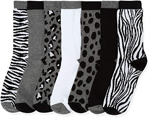 Marchio Amazon - find. Calze Donna, Grigio (Grey), 36-38 EU, Label: 3-5 UK