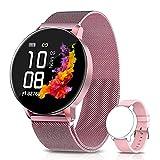 AIMIUVEI Smartwatch Damen,1.3 Zoll Smart Watch IP67 Wasserdicht , Fitness Tracker mit Aktivitätstracker Blutdruckmessung, Fitnessuhr Armbanduhr Pulsuhren Schrittzähler Uhr für iOS Android