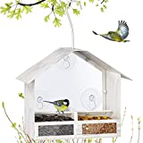BOLITE 18020 Bird Feeder 2-Way Feeders Window Bird Feeder with Strong Suction Cups Hanging Bird...