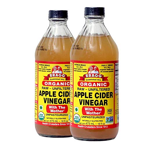 Bragg Organic Apple Cider Vinegar With the Mother– USDA Certified Organic – Raw, Unfiltered All Natural Ingredients, 16 ounce, 2 Pack