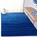 Safavieh Adirondack Collection ADR113F Modern Ombre Area Rug, 3' x 5', Light Blue/Dark Blue