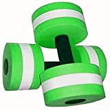 Davidamy's gift Water Aerobic Exercise Foam Dumbells Pool Resistance 1 Pair, Water Fitness Exercises Equipment for Weight Loss Green