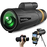 16X60 Monocular Telescope with Quick Smartphone Holder,Day & Low Night Vision Monocular,SAUDIO...