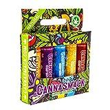 CannaSmack Natural Hemp Lip Balm - Sooth, Protect, Moisturize Your Lips. 5 Flavors - Mango, Tropical, Pineapple, Berry, Cherry - Beeswax, Hemp Seed Oil, Coconut Oil, Vitamin E - Cruelty Free