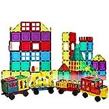 Shapemags 100 Piece Set 100 Pcs Magnet Building Tiles Magnetic Blocks - Car Accessories Set, 3D Construction Building (Toy)