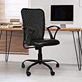 TIMBER CHEESE Ergonomic MESH Chair with Upgraded Metal Base, Make in India Concept with Height Adjustment (Standard, Black)