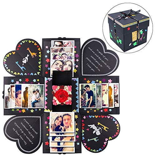 AerWo DIY Creative Explosion Gift Box, Surprise Picture Box Photo Album Gift with Accessories Kit for Valentines Day, as Galentine's Gift About Birthday Love Anniversary Wedding Gifts