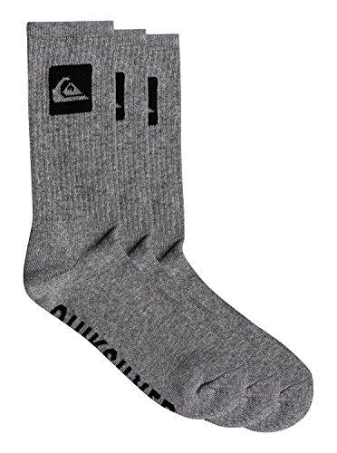 Quiksilver 3 Pack Crew Socks - Light Grey Heather