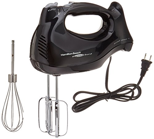 Hamilton Beach 6-Speed Electric Hand Mixer with Snap-On...