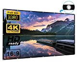 120 Inch 16:9 HD Projection Screen Foldable Anti-Crease Portable Projector Movie Screen for Home Theater Outdoor Indoor Support Double Sided Projection